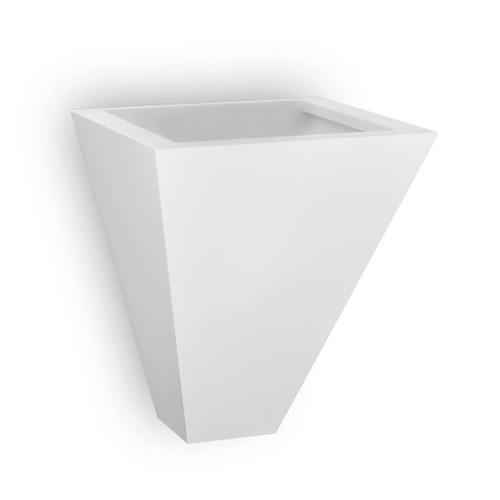 Raw Ceramic Square Pyramid Uplight Wall Light