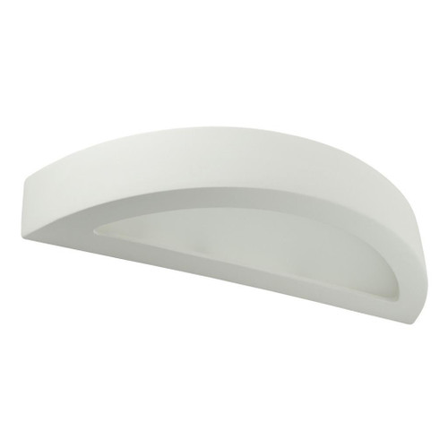 Raw Ceramic Frosted Glass Rounded Strip Wall Light