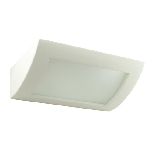 Raw Ceramic Frosted Glass Mounted Wall Light
