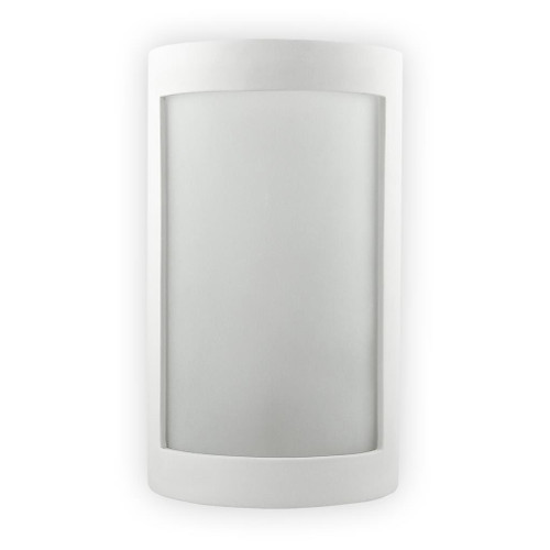 Raw Ceramic Rectangle Frosted Glass Wall Light