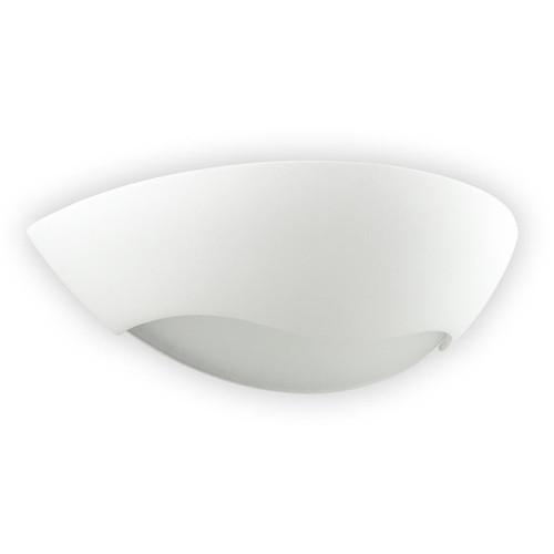 Raw Ceramic Half Circle Glass Wave Wall Light