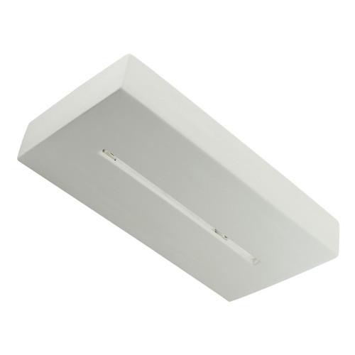 Raw Ceramic Box Slitted Glass Wall Light