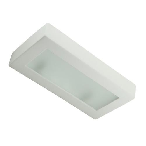 Raw Ceramic Box Rectangular Glass Wall Light