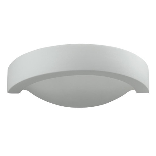 Raw Ceramic Rounded Embossed Wall Light