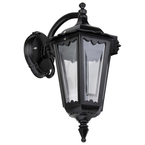 Chester Black Lantern Downward Wall Light