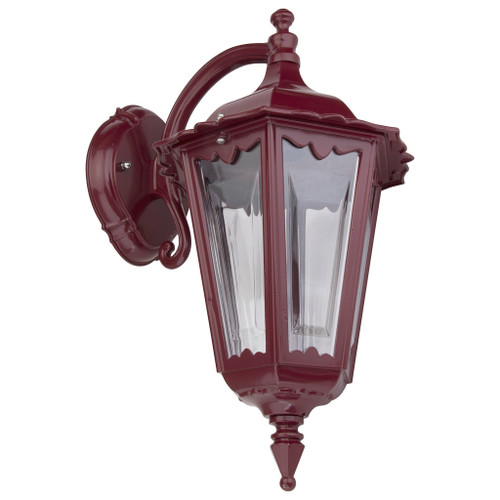 Chester Burgundy Lantern Downward Wall Light