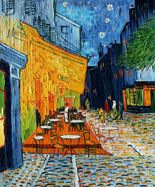 Cafe Terrace by Van Gogh Oil Painting Reproduction