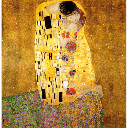The Kiss by Klimt Reproduction Oil Painting