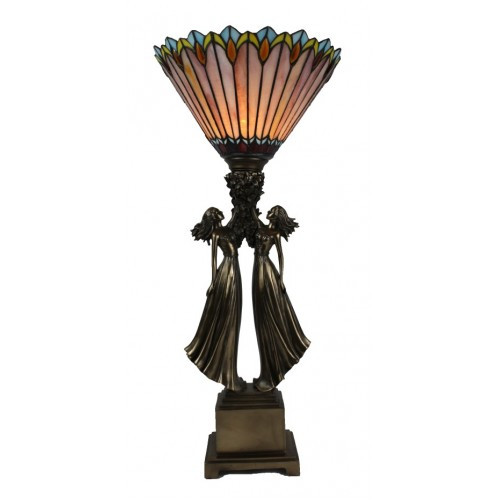 Atlas Girls Art Deco Lamp