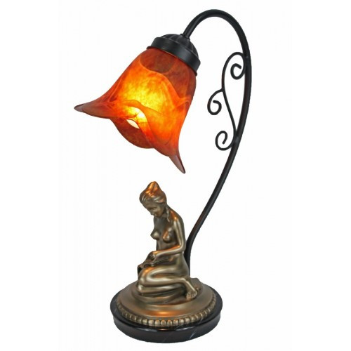Reading Girl Art Deco Lamp