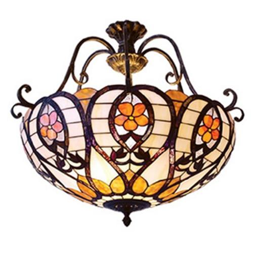 Inverted Honey Tiffany Pendant Light