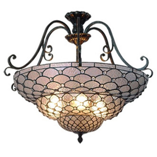 Inverted Geometric Clear Jewel Pendant Light