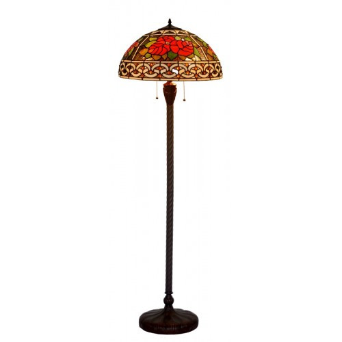 Rose Art Glass Floor Lamp