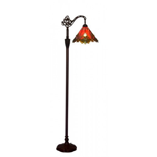 Red Butterfly Down Bridge Floor Lamp