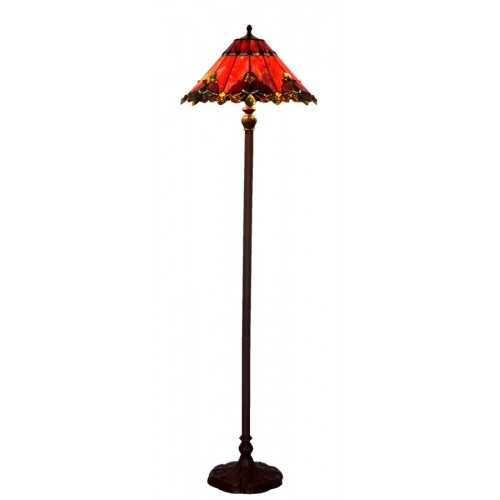 Red Butterfly Art Glass Floor Lamp