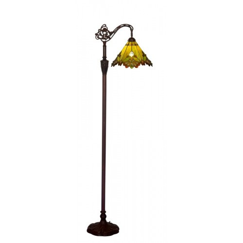 Green Butterfly Down Bridge Floor Lamp