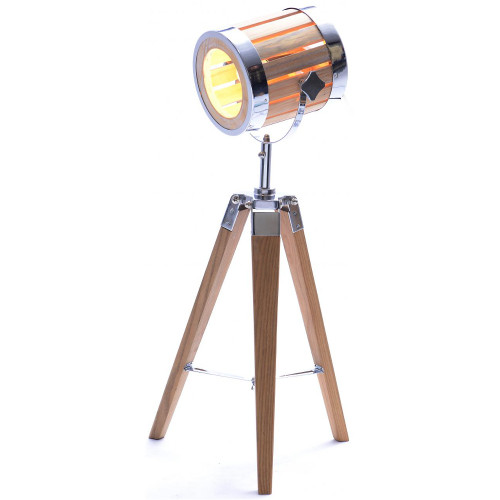 Natural Barrel Tripod Table Lamp