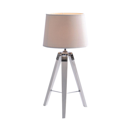 Nautical Marine White Tripod Table Lamp