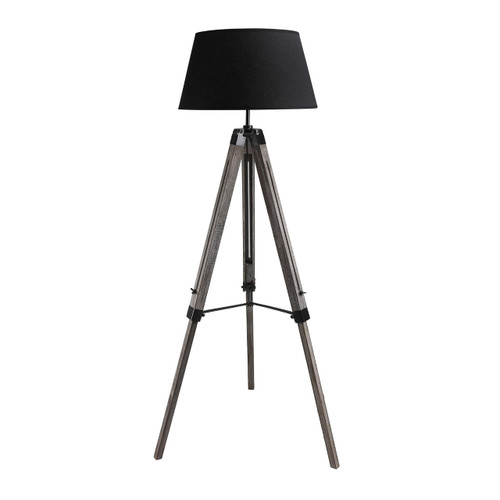 Nautical Marine Black Tripod Floor Lamp