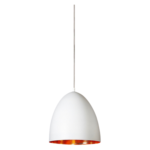 Egg White Label Copper Pendant Light