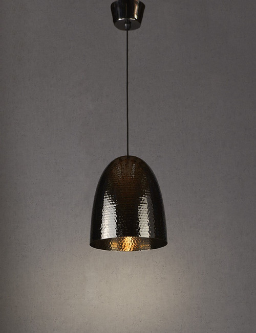 Dolce Beaten Charcoal Pendant Light