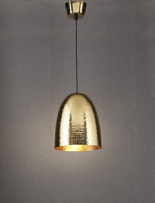 Dolce Beaten Brass Pendant Light
