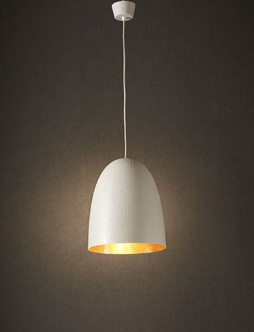 Dolce White and Copper Pendant Light