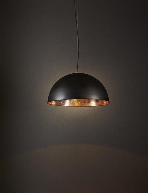 Alfresco Dome Black & Copper Pendant Light