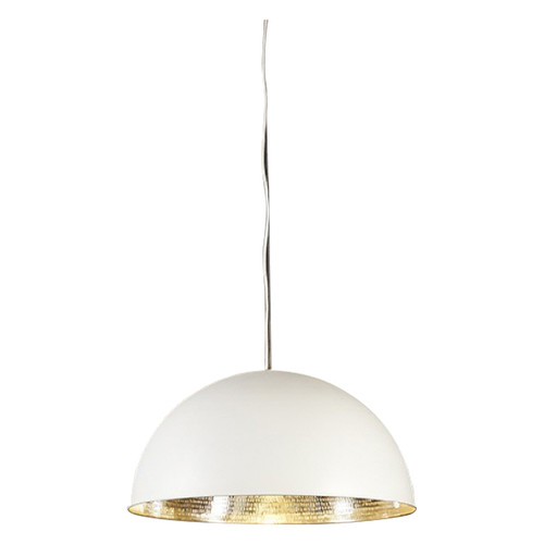Alfresco Dome White & Silver Pendant Light