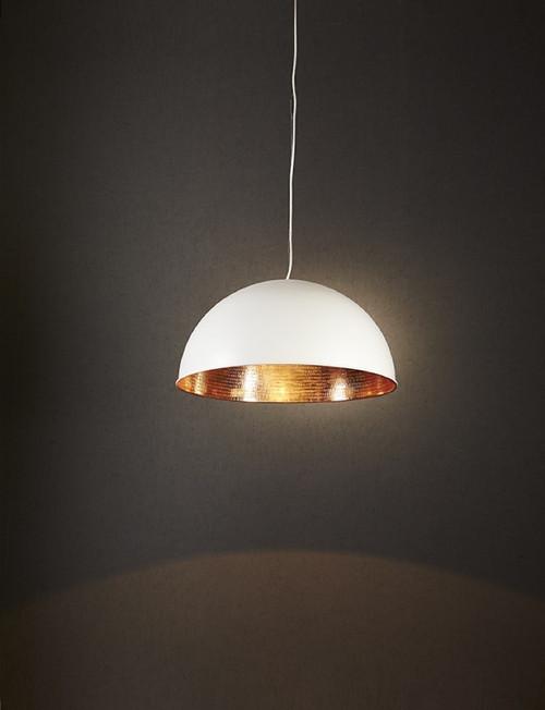 Alfresco Dome White & Copper Pendant Light
