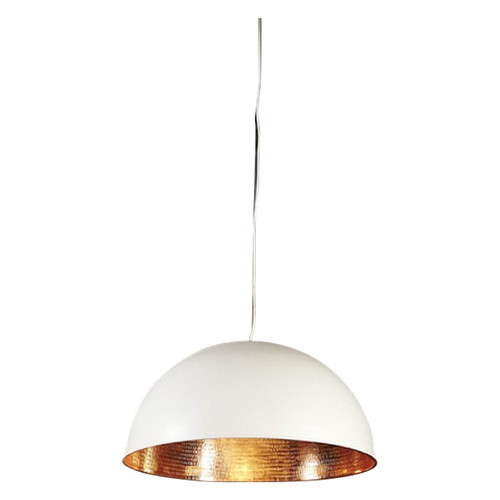 Alfresco Dome White & Copper Pendant Light