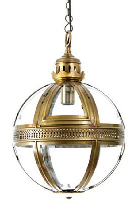 Saxon Brass Pendant Lamp