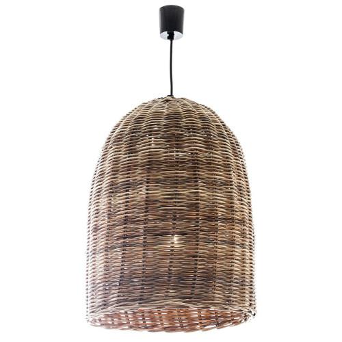 Wicker Bell Hanging Pendant Light