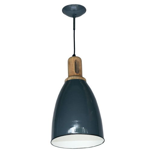 Grey Iron Wood Top Pendant