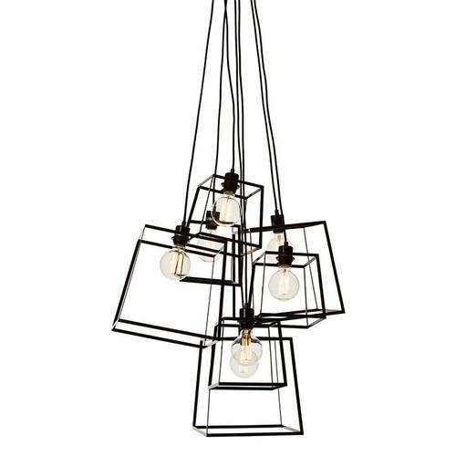 Pop Cluster 7 Light Pendant - Black