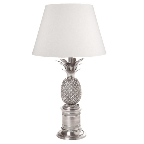 Bermuda Antique Silver Table Lamp