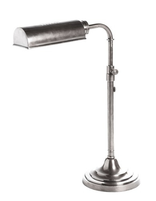 Brooklyn Antique Silver Desk Lamp