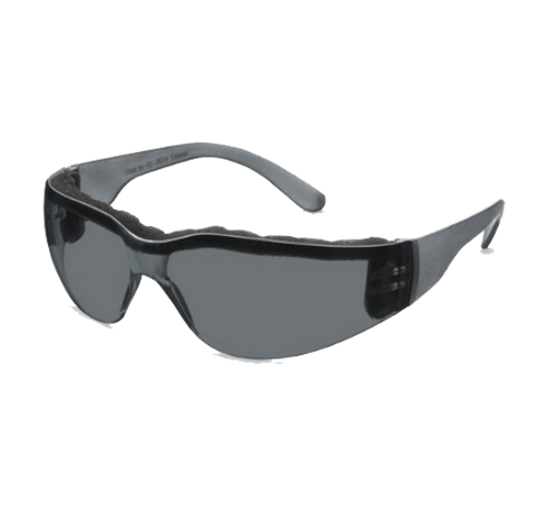 Foam Safety Glasses, Gray Temple, Gray Anti Fog Wraparound Lens (46FM78)