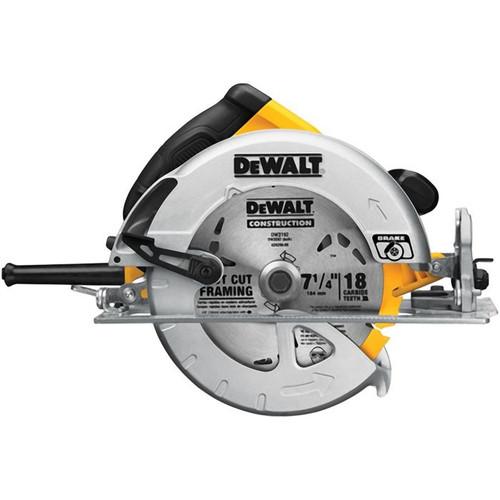 """DWE575SB 7-1/4"""" LIGHTWEIGHT CIRCULAR SAW W/ ELECTRIC BRAKE"""