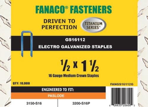 Fanaco 1/2 X 1 1/2 Staples