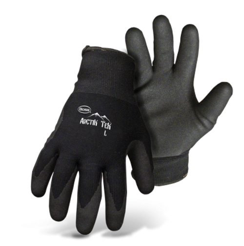 BOSS® ARCTIK TEK™ PALM DIP SANDY FOAM NITRILE ACRYLIC LINED WORK GLOVE