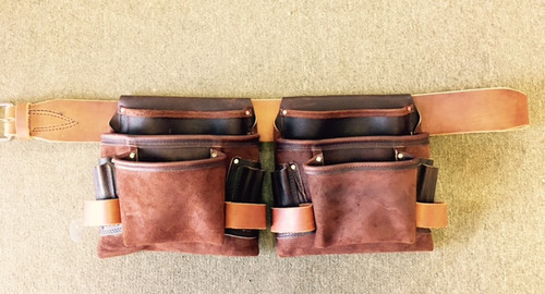 Amish Leather 3 Pouch Carpenter Set