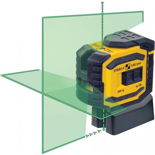 Stabila LAX 300G Green Beam Cross Line Plus Dots Laser Level 03185