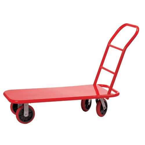 """Steel Plate Flat Cart 22"""" X 47"""" Yellow(Shown as Red)"""