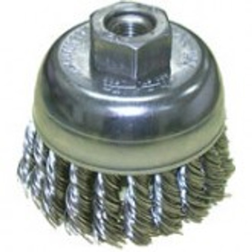 "2 3/4""x5/8-11 Knotted Wire Cup Brush Steel"