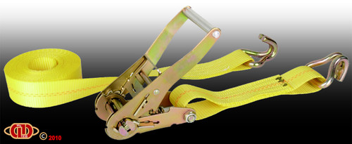 "2""x27' Wire Hook 10,000LB Ratchet Strap"