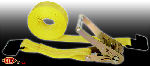 "2""x27' Flat Hook 10,000lb Ratchet Strap"