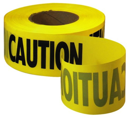 "Caution Tape (3"" x 1000') - Yellow"