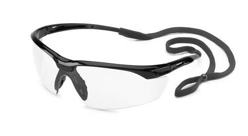 Conqueror Glasses - Black Frame/Clear Lens