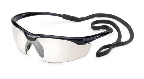 Conqueror Glasses - Black Frame/Clear Mirror Lens